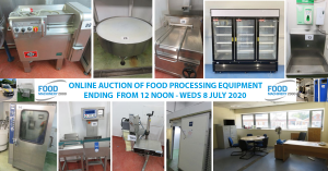 UPCOMING AUCTION OF FOOD PROCESSING EQUIPMENT
